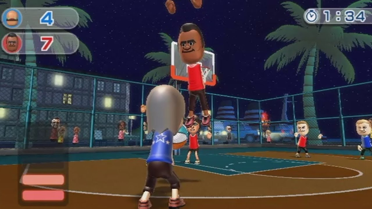 wii sports resort raging and funny moments - basketball championship