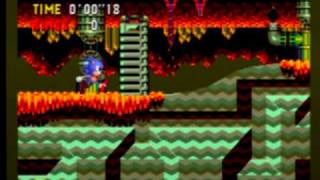 Sonic CD - Collision Chaos Zone 3 (all time zones with JP/EU sndtrk)