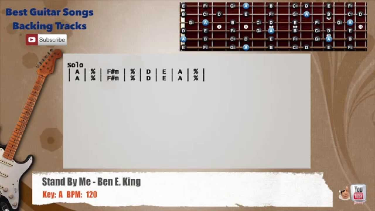 Stand By Me Ben E King Guitar Backing Track With Scale Chords