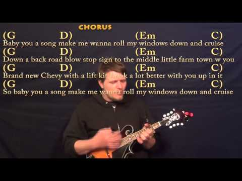 Cruise (Florida Georgia Line) Mandolin Cover Lesson with Chords and Lyrics - Capo 3rd Fret