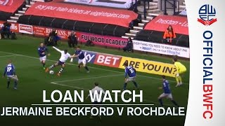 LOAN WATCH | Jermaine Beckford nutmegs the Rochdale goalkeeper