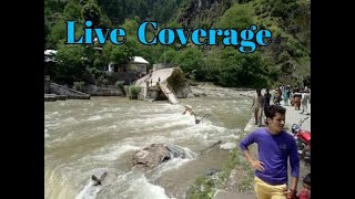 Neelum Bridge incident live footage students missed in River flow of Water