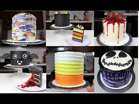 7 Easy Halloween Cakes | CHELSWEETS - YouTube
