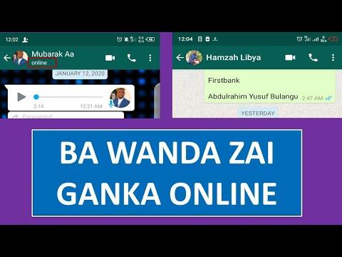 VEDIO:/ yanda zaka hana kowa ganin kana online a whatsapp