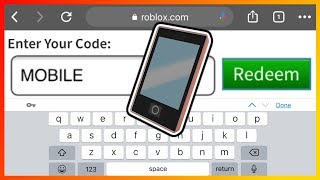 HOW TO REDEEM ROBLOX PROMO CODES ON PHONE & TABLET