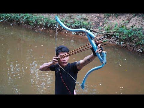 Как сделать точную ловлю лука из ПВХ.  Охота из ПВХ против огромной рыбы
