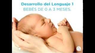 Desarrollo del Lenguaje en bebés de 0 a 3 meses