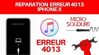 Réparation : Problème erreur 4013 iPhone X face ID apple Microsoudure