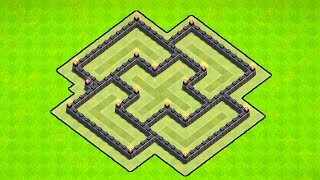 Clash of Clans [TOWN HALL 6 WAR BASE DEFENSE! BEST TH6 WAR BASE LAYOUT! INCLUDES 2 AIR DEFENSE!]