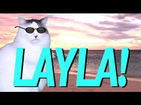 HAPPY BIRTHDAY LAYLA! - EPIC CAT Happy Birthday Song