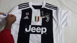 Gogoalshop.co 18-19 Juventus Home Soccer Jersey Shirt Unboxing Review