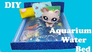 diy doll aquarium fish tank water bed for lps mini dolls