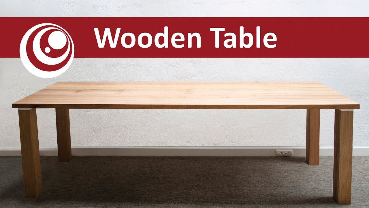 How To Make Your Own Dining Table   Work Desk, Easy And Cheap   YouTube