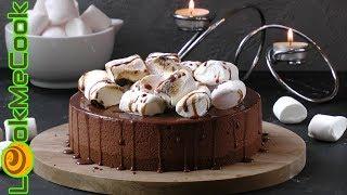 ДЕСЕРТ ИЗ МАРШМЕЛЛОУ И ШОКОЛАДА. Современный десерт. Воздушное лакомство/MARSHMELLOW CHOCOLATE CAKE