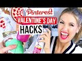 Pinterest Hacks TESTED #8 || VALENTINE'S DAY EDITION