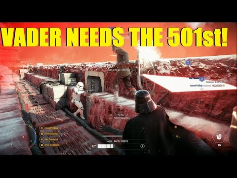 Star Wars Battlefront 2 - Vader needs the 501st! | First Order troops don't push objectives! thumbnail