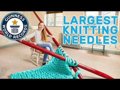 Elizabeth Bond: Largest Knitting Needles – Meet The Record Breakers