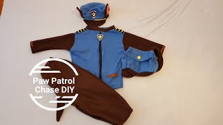 DIY Paw Patrol costume Chase,  Best Costume, how to make Paw Patrol Chase Costume