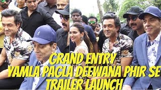 Grand Entry Star Cast Of Film Yamla Pagla Deewana Phir Se Trailer Launch