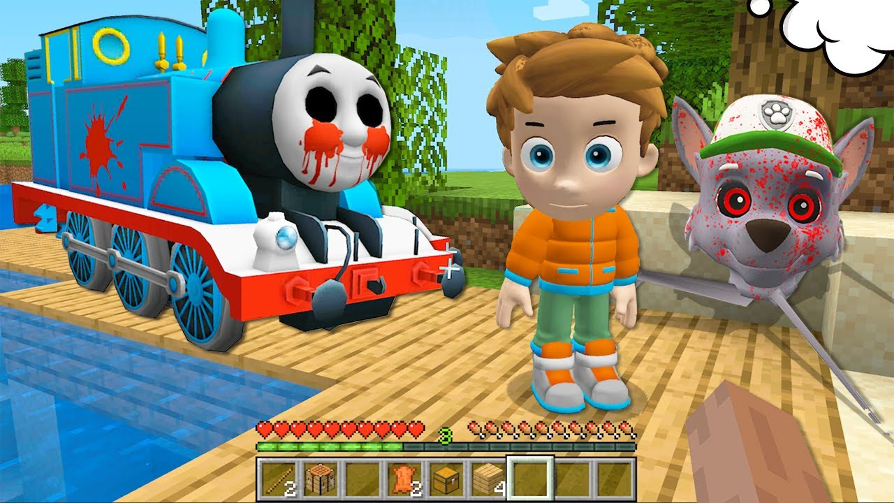 THOMAS.EXE vs PJ MASKS in Minecraft - Coffin Meme PAW PATROL.EXE