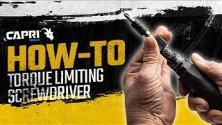 Capri Tools Torque Limiting Screwdriver