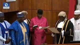 Omo-Agege Takes Oath Of Office As Deputy Senate President