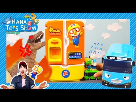 Help Tayo! Dinosaur attack started! l Hana's Toy Show #2 l Hana the Mechanic l Tayo the Little Bus