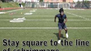 Cornerback technique: backpedal weave