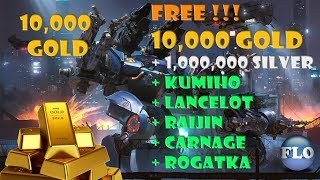 How I Got 10,000 GOLDs right in the moment - WAR ROBOTS