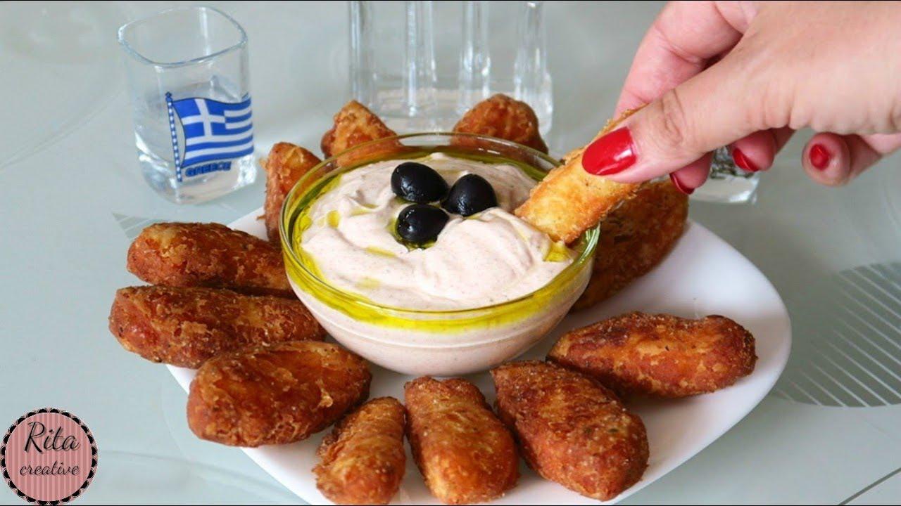 PALUSZKI HALLOUMI z pikantnym sosem jogurtowym | rita creative