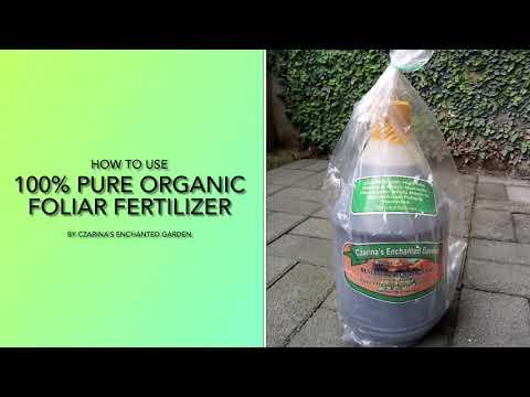 How To Use 100% Pure Organic Foliar Fertilizer by Czarina's Enchanted Garden