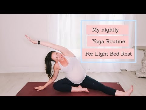 Nightly Yoga Routine for Bed Rest | 30 Weeks Pregnant with Twins