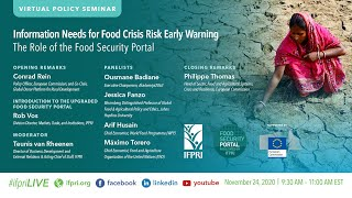Information Needs for Food Crisis Risk Early Warning: The Role of the Food Security Portal