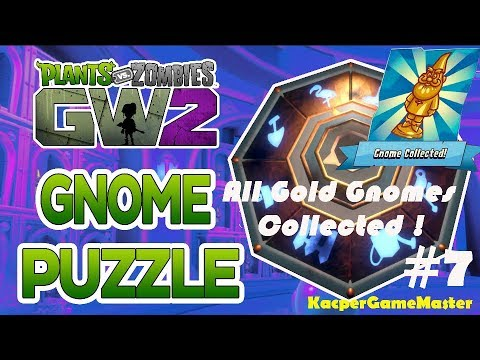 Plants Vs Zombies Garden Warfare 2 All Gold Gnomes Collected And Gnome Puzzle Solved Youtube