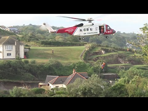 Dramatic rescue as heavy flash flooding hits Cornwall