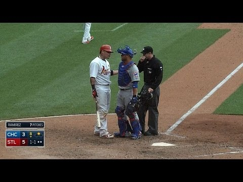 Molina takes exception to a high pitch