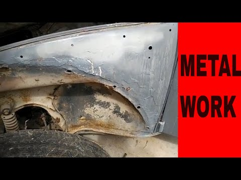 vw bug front quarter panel repair without replacing sheet metal work