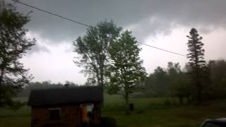 Funnel in Mass City Michigan 5/24/2012 8:10 PM Eastern Time