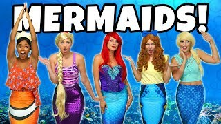 DISNEY PRINCESS MERMAIDS! Ariel's Friends are Turned into Mermaids by Ursula.