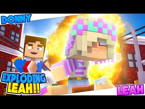 Minecraft: LEAH GETS SO ANGRY SHE EXPLODES!! Hot Potato Mini Game Challenge.
