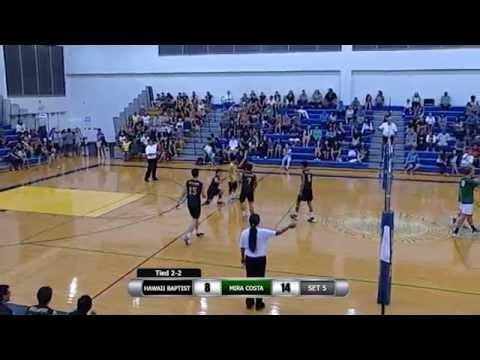 2015 Boys Volleyball: Hawaii Baptist Academy (HI) v. Mira Costa (CA): April 10, 2015