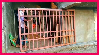 How to installation manual sliding gate India ||