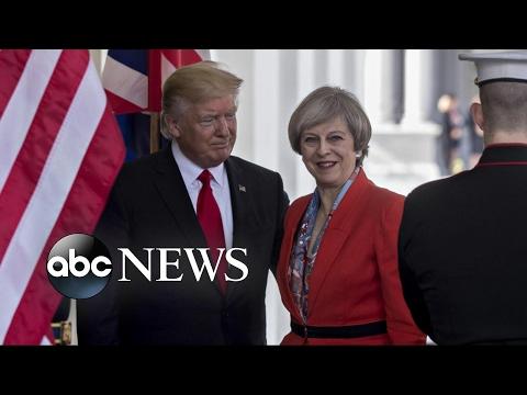 British PM Theresa May Visits the White House