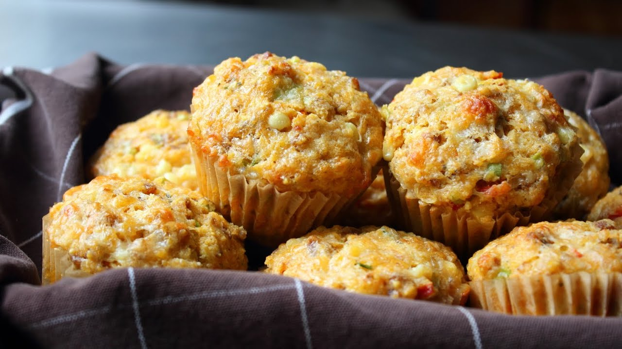 Sausage & Sweet Corn Muffins - Sausage Stuffed Corn Muffin Recipe ...