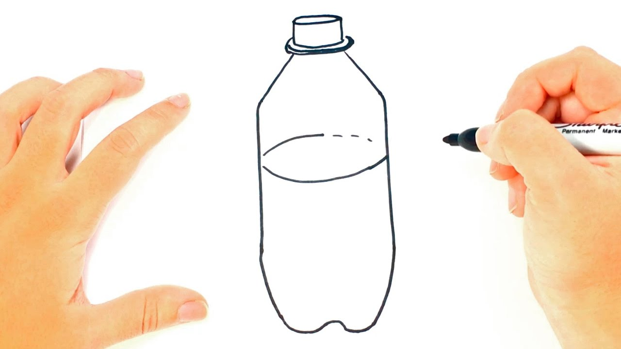 How to draw a bottle bottle easy draw tutorial