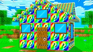 Extreme RAINBOW Lucky Block House Battle! Preston vs Skeppy