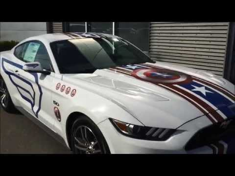 Friendly Ford S Captain America Mustang Revealed Youtube