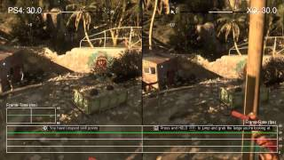 Dying Light PS4 vs Xbox One Gameplay Frame Rate Test