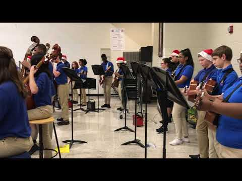 Trickum Middle School Orchestra and Guitar perform Winter Concert 2017