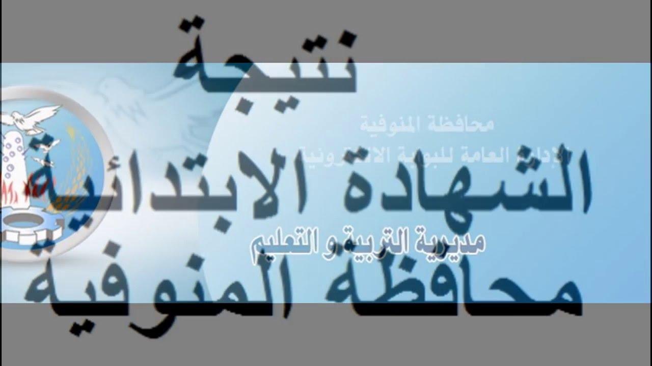 نتائج الصف السادس الابتدائى 2018 محافظة المنوفية